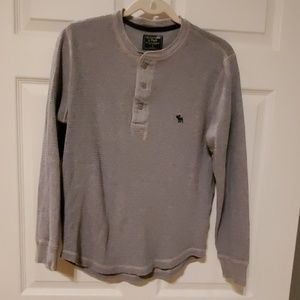 Abercrombie&Fitch Small Men gray LS shirt